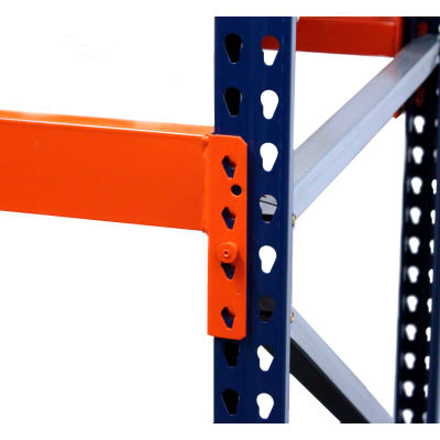 "Interlake Mecalux Blue Bolted Pallet Rack Tear Drop Add-On, 120""W x 42""D x 120""H"