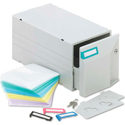 CD/DVD Storage Drawer, Stores Up to 150 CDs/DVDs, Light Gray