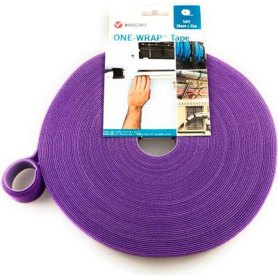 """VELCRO® Brand One-Wrap® Hook & Loop Tape Fasteners Purple 3/8"""" x 75'"""