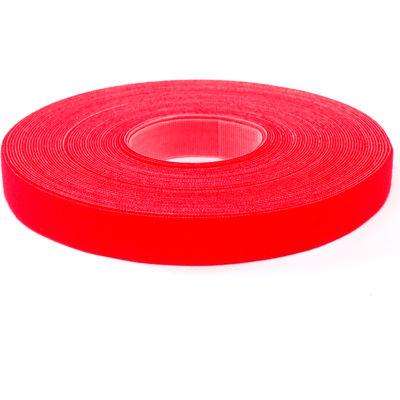 """VELCRO® Brand One-Wrap® Hook & Loop Tape Fasteners Red 1"""" x 15'"""