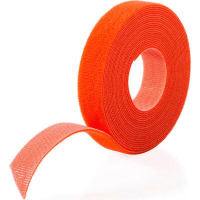 """VELCRO® Brand One-Wrap® Hook & Loop Tape Fasteners Orange 5/8"""" x 75'"""