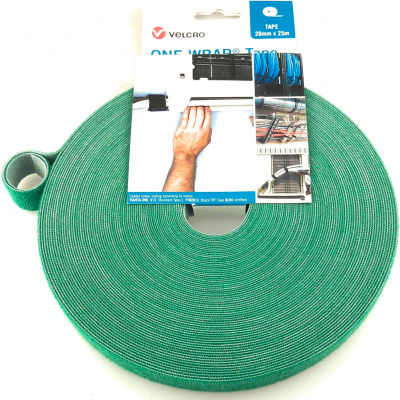 "VELCRO® Brand One-Wrap® Hook & Loop Tape Fasteners Green 1/2"" x 75'"