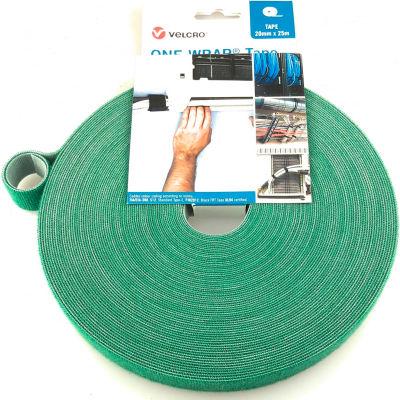 """VELCRO® Brand One-Wrap® Hook & Loop Tape Fasteners Green 3/8"""" x 75'"""