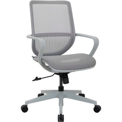 Interion® All Mesh Task Chair - Gray