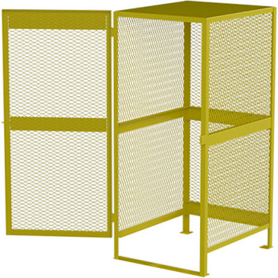 Global Industrial™ Cylinder Storage Cabinet, Vertical Single Door 10 Cylinders, 33W x 40D x 71H