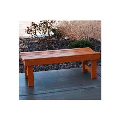 Frog Furnishings Recycled Plastic 4 ft. Garden Bench, Cedar Bench/Cedar Frame