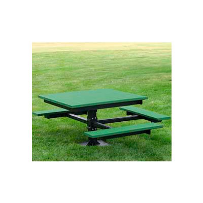 Frog Furnishings Recycled Plastic 4 ft. T-Table, ADA, Green