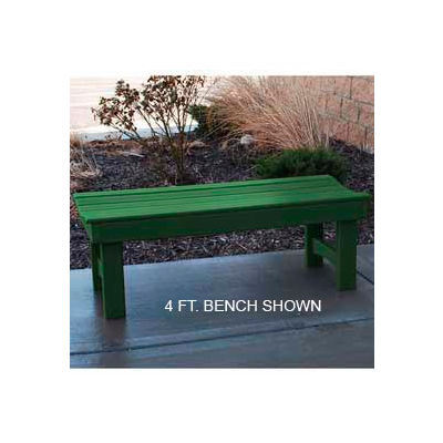Frog Furnishings Recycled Plastic 6 ft. Garden Bench, Green Bench/Green Frame