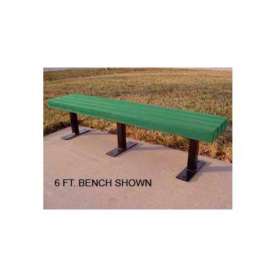 Frog Furnishings Recycled Plastic 8 ft. Trailside Bench, Green Bench/Black Frame