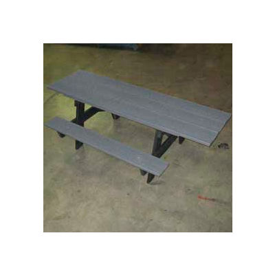Frog Furnishings Recycled Plastic 6 ft. A-Frame Table, ADA, Gray