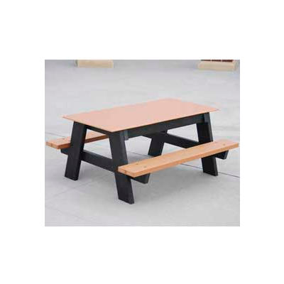 Frog Furnishings Recycled Plastic 4 ft. Kids Picnic Table, Cedar