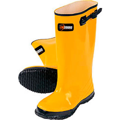 """Enguard Slush Boots, Rubber, 17"""" Height, Yellow, Size 12, 1 Pair"""