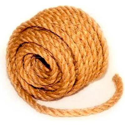 """BOEN Sisal 3-Strand Twisted Rope SLR-38100 - 3/8"""" x 100' - 3 Lb. - Camel"""