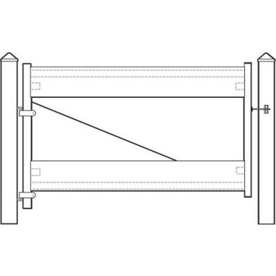 "Adjust-A-Gate II AG22006 Ranch Style Fence Gate Frame 2 Rail Kit 72""W x 28""H, White"