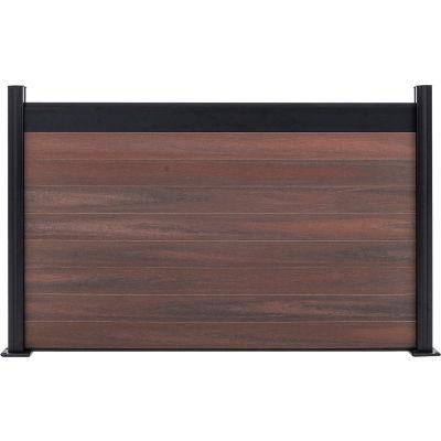 Estate 6'W x 4'H Black Rose Aluminum/Composite  Horizontal Fence - Starter Section-SURFACE MOUNT