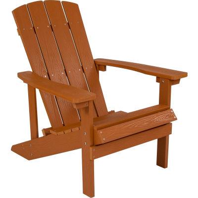 Flash Furniture Charlestown All-Weather Adirondack Chair - Teak Faux Wood