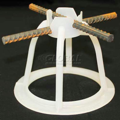 """Lotel™ Re-Bar Ups Concrete Reinforcing Chairs, 4"""" Rebar-Up For #3 Rebar, 100 Qty"""