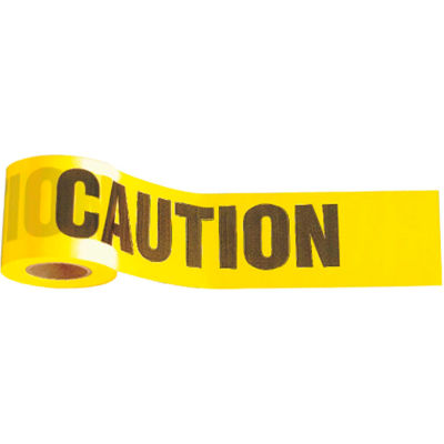 """1,000' x 3"""" Yellow """"Caution"""" Tape, 1 Roll"""