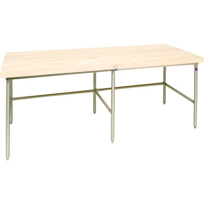 """John Boos Bakery Production Table Frame - NSF Approved Galvanized Legs 144""""W x 30""""D"""