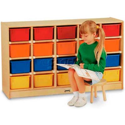 """Jonti-Craft® 20 Tray Mobile Cubbie Without Trays, 48""""W x 15""""D x 29-1/2""""H, Birch Plywood"""
