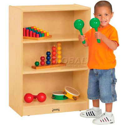 "Jonti-Craft® Small Mobile Single Storage Unit, 24""W x 15""D x 35-1/2""H, Birch Plywood"
