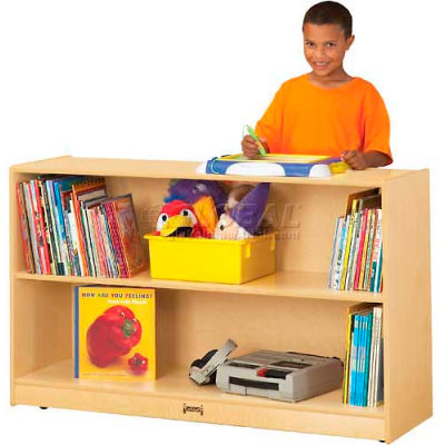 "Jonti-Craft® Low Adjustable Mobile Bookcase, 48""W x 15""D x 29-1/2""H, Birch Plywood"