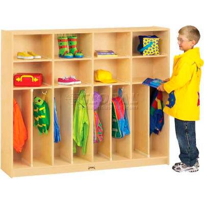 """Jonti-Craft® Neat-N-Trim Kid Lockers, 8 Wide, 60""""W x 15""""D x 50-1/2""""H, Birch Plywood"""
