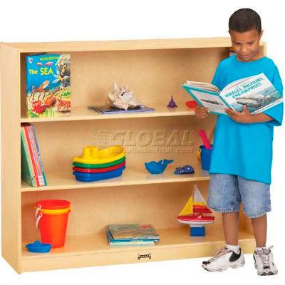 "Jonti-Craft® Mega Straight-Shelf Mobile Single , 48""W x 15""D x 42""H, Birch Plywood"