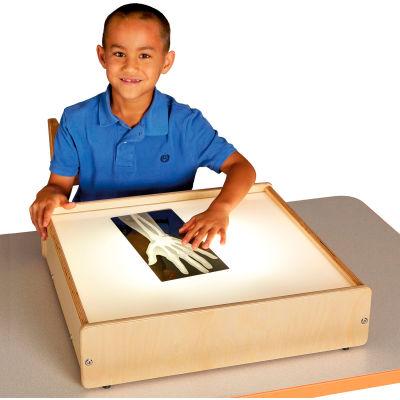 "Jonti-Craft® Tabletop Wooden LED Light Box with Acrylic Top - 20.5""W x 21""D x 5""H"
