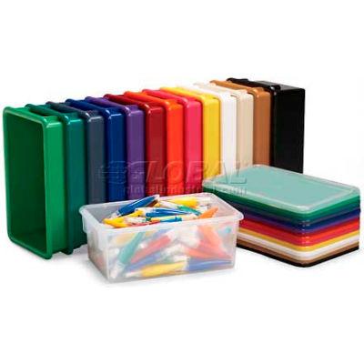"""Jonti-Craft 8028 Cubbie Tote Tray, 13-1/2""""L x 8-5/8""""W x 5-1/4""""H, Orange - Pkg Qty 5"""