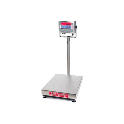 "Ohaus® D32XW60VL AM Defender Washdown Bench Digital Scale 150lb x 0.02lb 16-1/2"" x 21-5/8"""