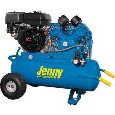 Jenny® G9HGA-17P Portable Gas Air Compressor w/ Honda GX Engine, 9 HP, 17 Gallon, Horizontal
