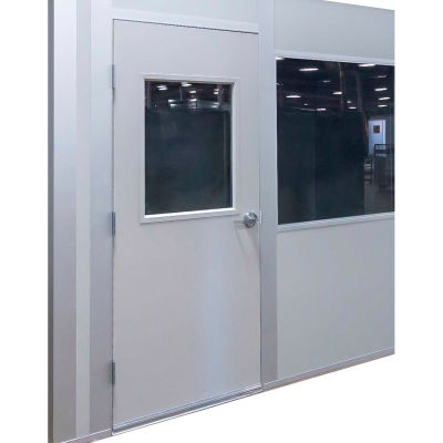 Porta-King Inplant Office, Additional 3070 Swing Door, 3'W x 7'H, Steel, Gray