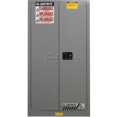 Justrite® Drum Cabinet 55 Gal. Capacity Vertical Self Close Hazmat Flammable W/ Drum Support