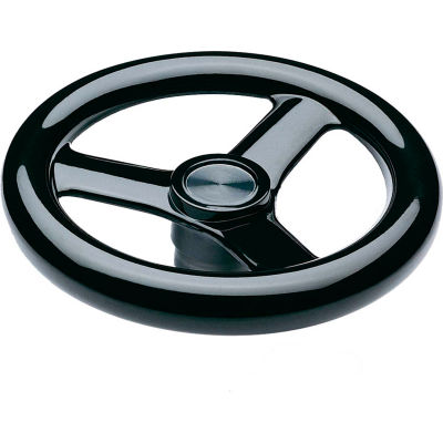 "JW Winco - 0BLC8/A - Plastic 3-Spoked Handwheel w/o Handle, Blank Type - 14.69"" Dia - Solid Hub"