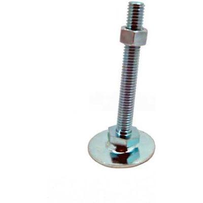"Leveling Foot, 5/8-11 x 5.91"" Stud, 3.15"" Base Dia, 6.58""H, 2700 Lbs. Cap, Steel"