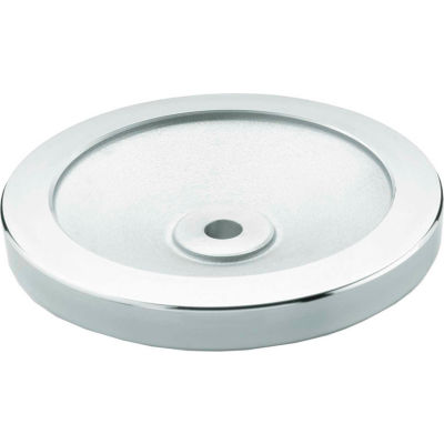 "JW Winco - 12MF08/A - Aluminum Solid Disk Handwheel w/o Handle - 6.30"" Dia x 12mm Bore"