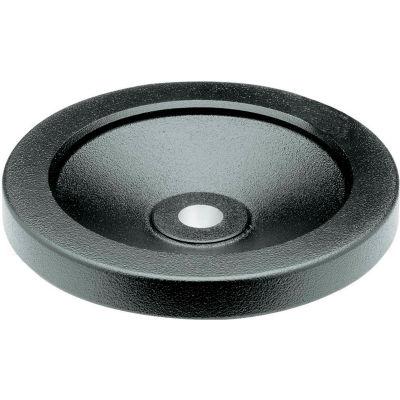 """JW Winco - 12MF12/A - Black Solid Disk Handwheel w/o Handle - 3.94"""" Dia x 12mm Bore"""