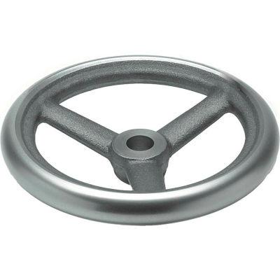 "JW Winco - 12MN83/A - Cast Iron Spoked Handwheel w/o Handle - 4.92"" Dia x 12mm Bore"