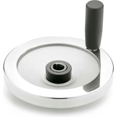 """JW Winco - 14KE55/DDR - Safety Clutch Handwheel - Fric. Bearing w/handle 6.30"""" D-14mm Bore & Keyway"""