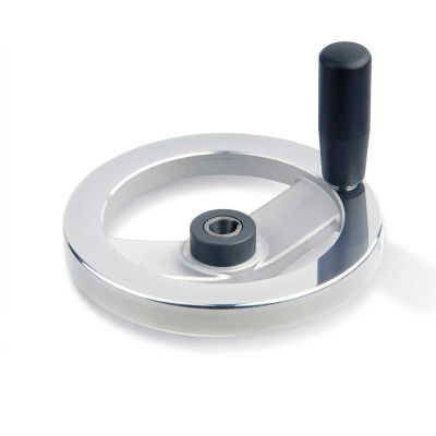 "JW Winco - 14KE80/DZI - Safety Clutch Handwheel - Needle Bearing w/Handle 6.30""D-14mm Bore & Keyway"