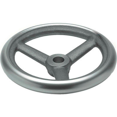 "JW Winco - 14MN83/A - Cast Iron Spoked Handwheel w/o Handle - 4.92"" Dia x 14mm Bore"