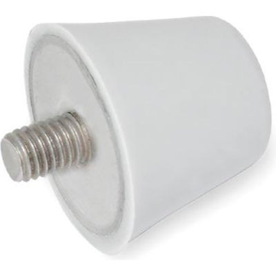 "Silicone Conical Vibration/Shock Absorption Mount - 10-24 x .39"" Thread - 25 Ft. Lbs. Max Load"