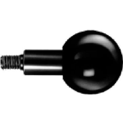 J.W. Winco GN319.2 Phenolic Revolving Ball Knob W/Long Shoulder 32mm Dia. 48mm Length M8x1.25
