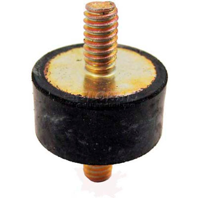 "Vibration Mount, 2 Threaded Studs, .59"" Dia, 15mm H, M4 x .7 Thread"