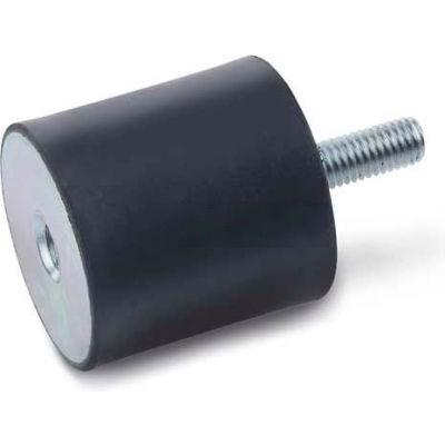 "Vibration Mount, 1 Tapped Hole, 1 Threaded Stud, 1.57"" Dia, 30mm H, M8 x 1.25 Thread"