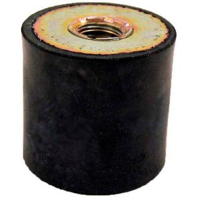 "Vibration Mount, 2 Tapped Holes, 2.00"" Dia, 1.63""H, 3/8-16 Thread"