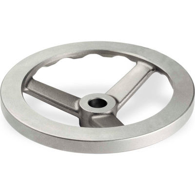 "JW Winco - 4BDF2/A - Stainless Steel 3 Spoked Handwheel w/o Handle - 4.92"" Dia x .500"" Bore"