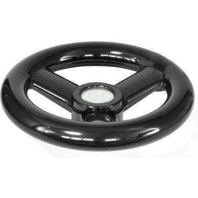 "JW Winco - 6202005 - Plastic 3 Spoked Handwheel w/o Handle - 3.94"" Dia x .16"" Pilot Hole"
