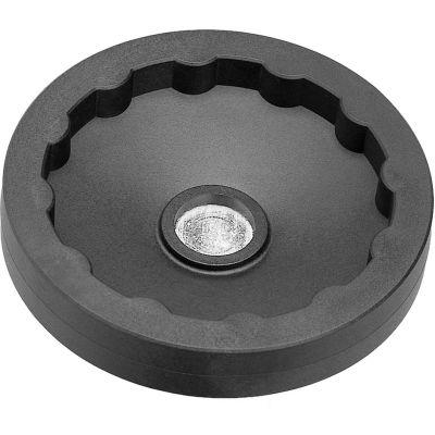 "JW Winco - 6379010 - Plastic Solid Disk Handwheel w/o Handle - 4.92"" Dia x .24"" Pilot Hole"